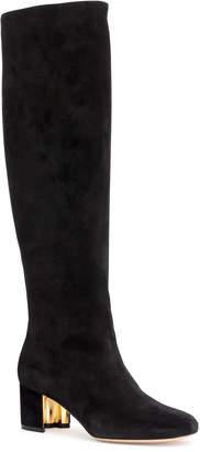 Salvatore Ferragamo Vetto 55 black suede boots