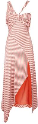 Jonathan Simkhai Striped Cut Out Maxi Dress