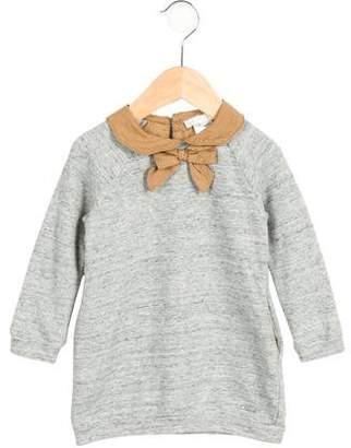 Chloé Girls' Bow-Adorned Shift Dress