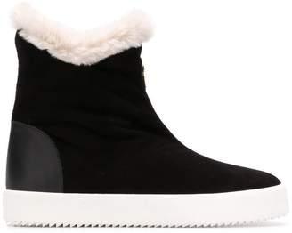 Giuseppe Zanotti Design Macie fur lined sneakers