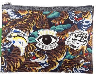 KenzoKenzo Tiger Print Clutch