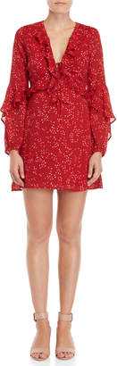 Lush Printed Ruffled Mini Dress