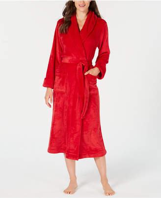 Charter Club Textured-Trim Long Wrap Robe, Created for Macy's