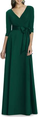 Alfred Sung Jersey Bodice A-Line Gown