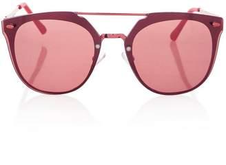 Topshop Monique Rimless Cateye Sunglasses