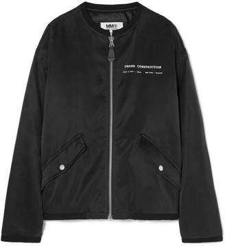 MM6 MAISON MARGIELA Printed Satin Bomber Jacket - Black