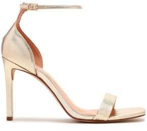 Halston Myra Velvet And Patent-Leather Sandals