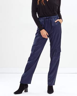 Missguided Satin Utility Trousers
