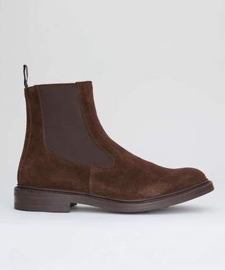 Tricker's Limited Edition Suede Chelsea Boot in Cafe Brown