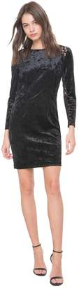 Juicy Couture Lace & Crushed Velour Fitted Dress