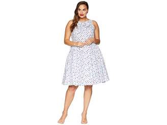 Unique Vintage Plus Size Doheny Swing Dress