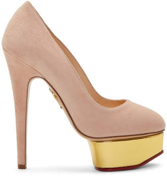 ea21d7aefe3 Charlotte Olympia Pink Dolly Platform Heels