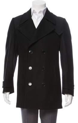 Dolce & Gabbana Double-Breasted Virgin Wool-Blend Coat