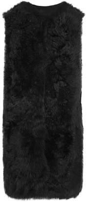 Reversible Shearling Gilet - Black