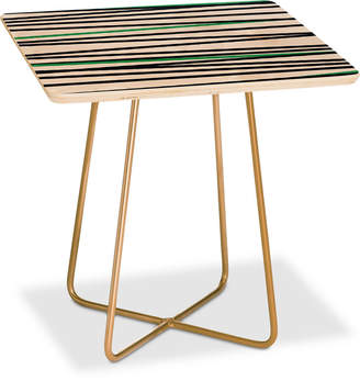 Deny Designs Khristian A Howell Crew Stripe Cool Square Side Table