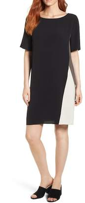 Eileen Fisher CB BATEAU NECK S/S K/L DRESS