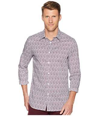 Perry Ellis Men's Slim Fit Print Stretch Shirt