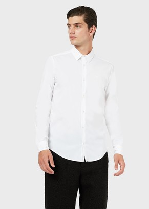 Emporio Armani Stretch Cotton Canvas Shirt