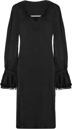 Raquel Allegra Frayed Satin Dress