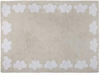 BEIGE Happy Decor Kids Washable Rug (120 x 160 cm, Cenefa Beige, Clouds)