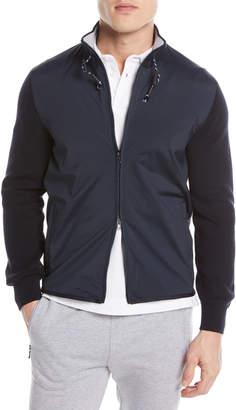 Ermenegildo Zegna Hybrid Zip-Front Sweater