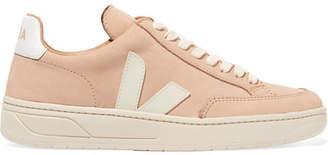 Veja V-12 Bastille Nubuck Sneakers - Beige