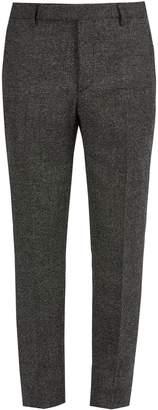 Saint Laurent Slim-leg checked wool trousers