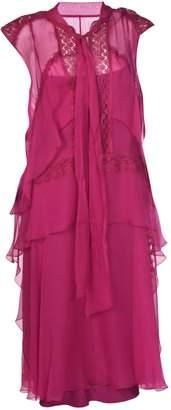 Alberta Ferretti Sheer Layer Dress