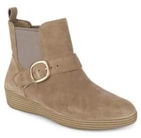 FitFlop Slip-On Suede Booties