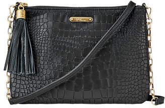 GiGi New York Chelsea Croc-Embossed Leather Crossbody Bag