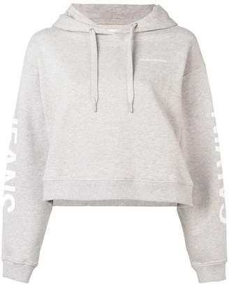 Calvin Klein Jeans logo print cropped hoodie