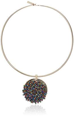 Kenneth Cole New York Color Gold Collar Necklace with -Colored Woven Pendant Necklace