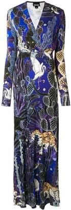 Just Cavalli night jungle maxi dress