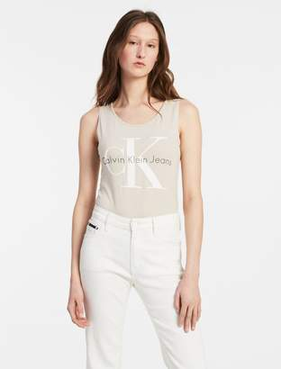Calvin Klein sleeveless logo bodysuit