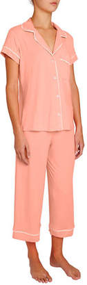 Eberjey Gisele Cropped Two-Piece Jersey Pajama Set