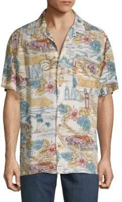 Steve Harvey Printed Button-Down Shirt