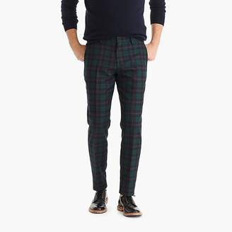 J.Crew Ludlow Slim-fit unstructured suit pant in tartan English cotton-wool twill
