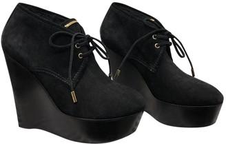 Louis Vuitton Black Fur Ankle boots