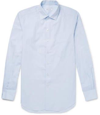 Loro Piana Andre Cotton-Poplin Shirt - Light blue