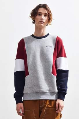 Nicce Colorblock Crew-Neck Sweatshirt