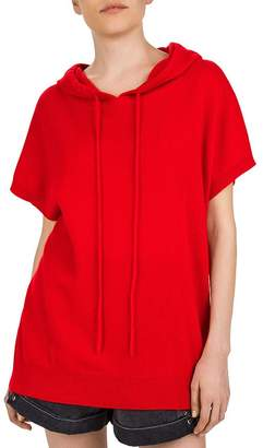 The Kooples Short Sleeve Cashmere Hoodie