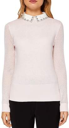 Ted Baker Braydey Embellished Collar Sweater $209 thestylecure.com