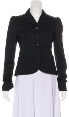 Miu Miu Notch-Lapel Button-Up Blazer