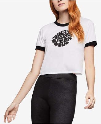 BCBGeneration Mid Cropped Graphic-Print Ringer T-Shirt