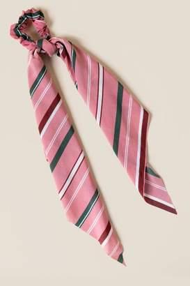 francesca's Lara Striped Pony Scarf - Pink