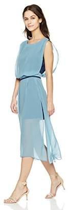Signature Society Women's Round Neck Sleeveless Chiffon Dress
