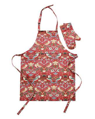Litecraft Strawberry Thief Apron & FREE Oven Mitt