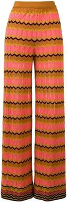 M Missoni zigzag knit wide-leg trousers