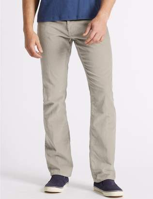 Marks and Spencer Regular Fit Pure Cotton Corduroy Trousers