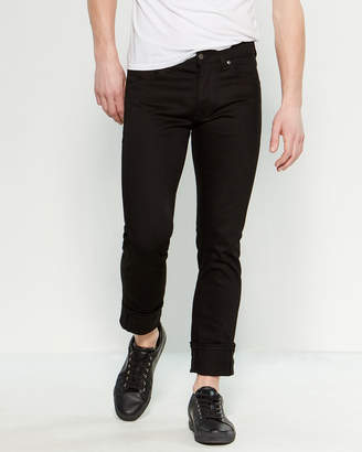 Nudie Jeans Dry Black Twill Dude Dan Regular Straight Pants